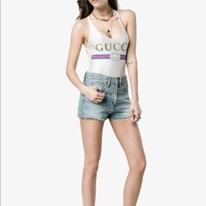 Gucci Sparkling Swimsuit with Gucci Logo Body Suit